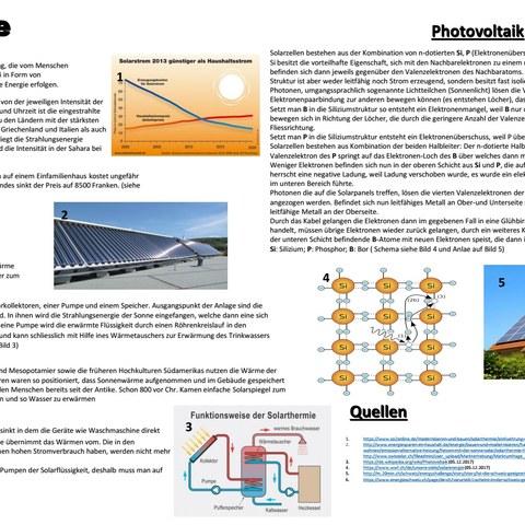 Solarenergie. Vergrösserte Ansicht